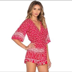 Lovers and friends red floral romper